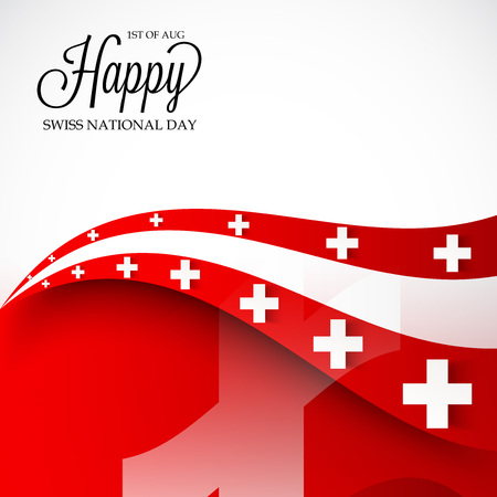 Swiss National Day. Stock Vector - 94602482