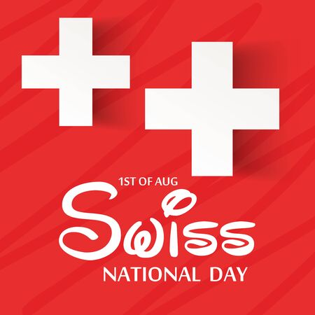 Swiss National Day. Stock Vector - 94602486
