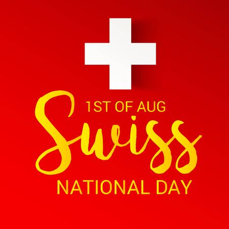 Swiss National Day. Stock Vector - 94606445