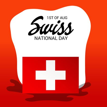 Swiss National Day. Stock Vector - 94602497