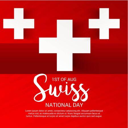 Schweizer Nationalfeiertag Standard-Bild - 94602510