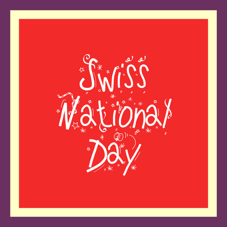 Swiss National Day. Stock Vector - 94602511