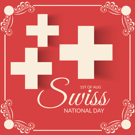 Swiss National Day. Stock Vector - 94602508