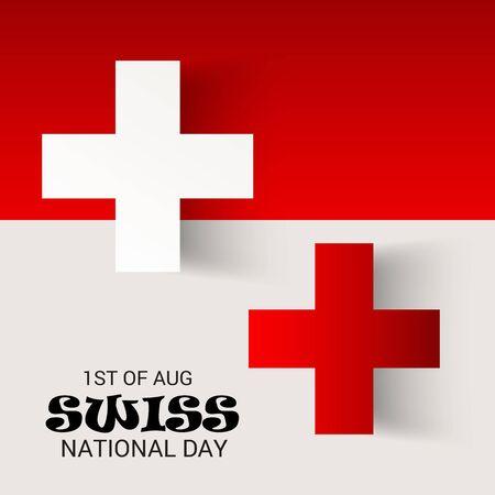 Schweizer Nationalfeiertag Standard-Bild - 94602513