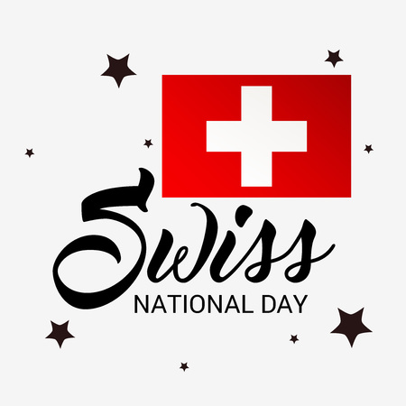 Swiss National Day. Stock Vector - 94602522
