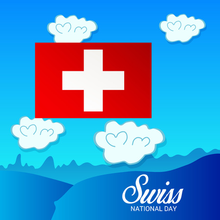 Fête nationale suisse Banque d'images - 94660748
