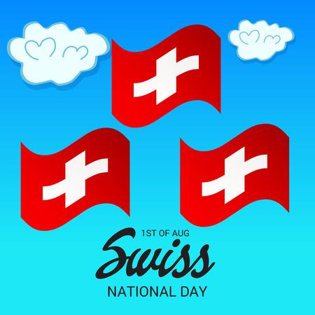 Fête nationale suisse Banque d'images - 94660744