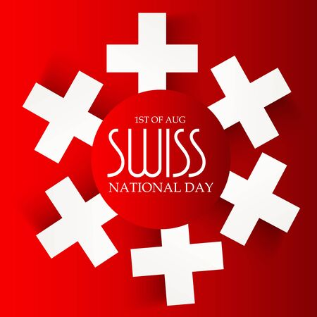 Swiss National Day. Stock Vector - 94602530
