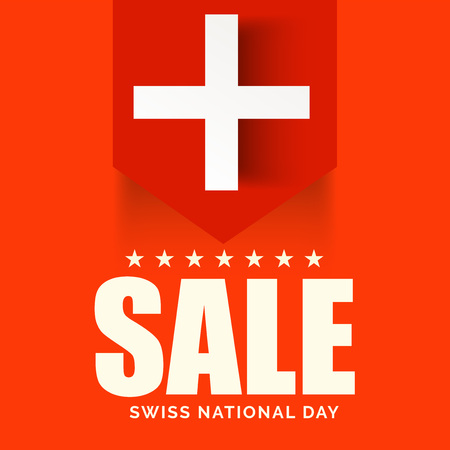 Swiss National Day. Stock Vector - 94602547