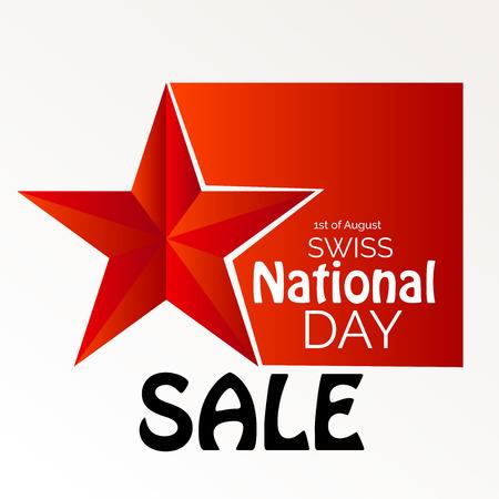 Vente de la fête nationale suisse. Banque d'images - 94660751