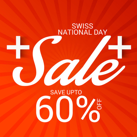 Swiss National Day Sale.