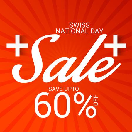Vente de la fête nationale suisse. Banque d'images - 94660752