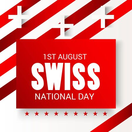 Swiss National Day. Stock Vector - 94602579