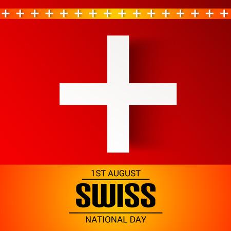 Schweizer Nationalfeiertag Standard-Bild - 94602581