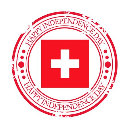 Swiss Independence Day. Stock Vector - 94602591