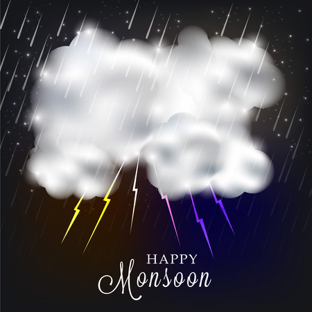 Happy Monsoon Offer. rain Vector illustration.