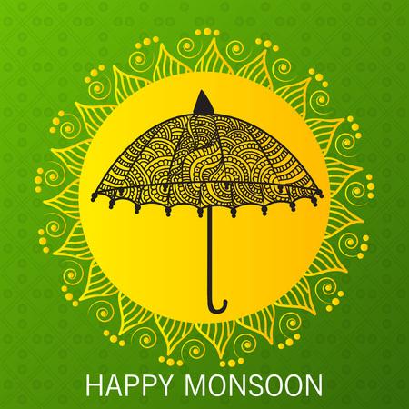 Happy Monsoon Offer illustration.