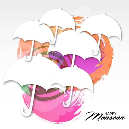 Happy Monsoon Offer illustration.
