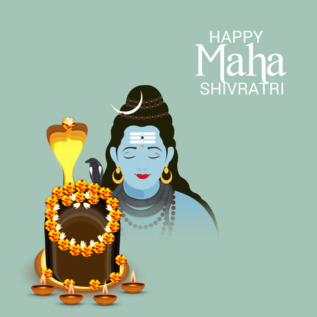 Happy Maha Shivratri design.
