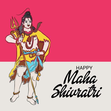 Happy Maha Shivratri, celebration decoration illustration design Illustration