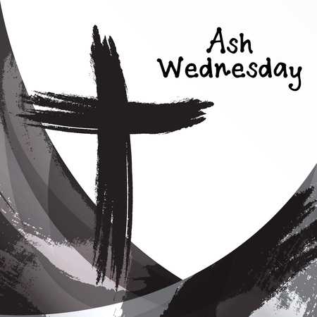 Ash Wednesday. Stock Vector - 94897884