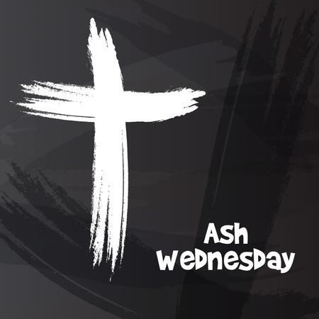Ash Wednesday banner.