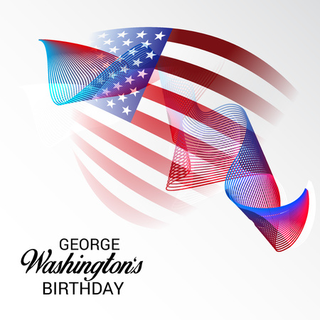 George Washington Birthday. Illustration