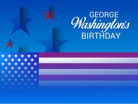 George Washington Birthday. Illustration