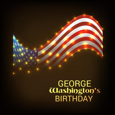 George Washington Birthday. 矢量图像