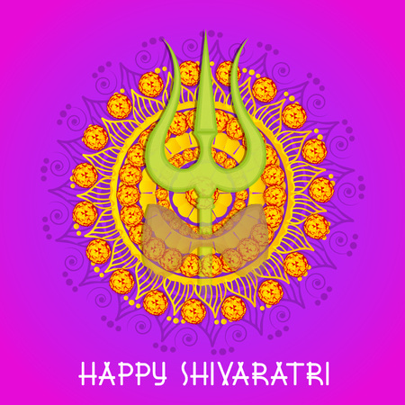 Happy Maha Shivratri colorful banner design.