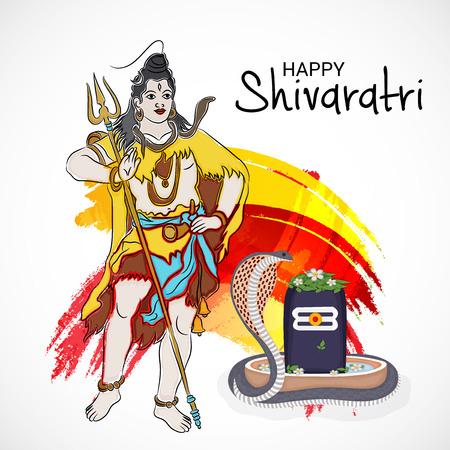 Happy Maha Shivratri colorful banner design.