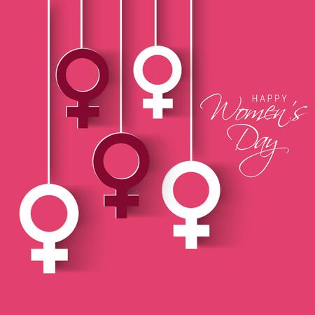 Happy Women's Day. Vettoriali