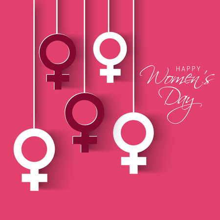Happy Women's Day. 向量圖像