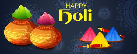 Happy Holi banner template Illustration