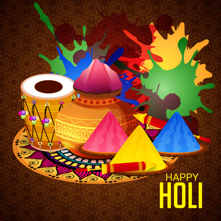 Happy Holi banner template Illustration