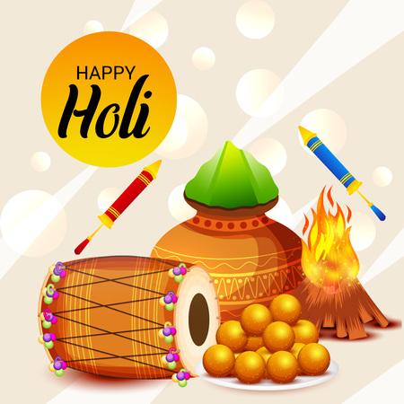 Happy Holi. Illustration