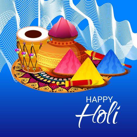 Happy Holi greeting card template