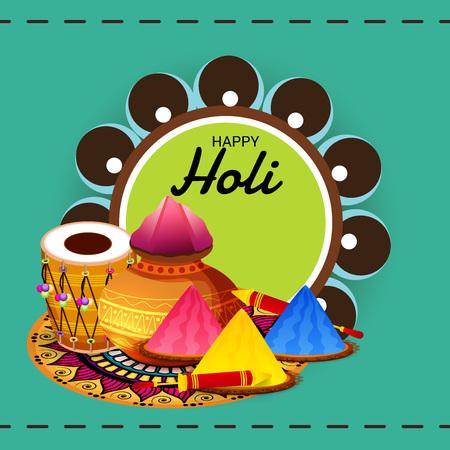 Happy Holi background vector illustration.