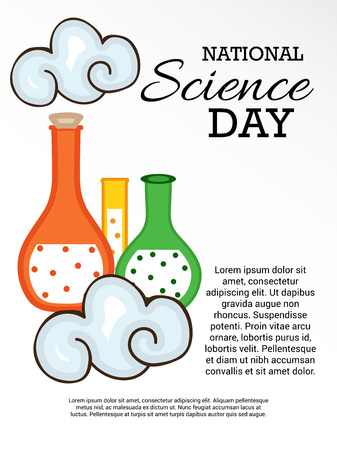 National Science Day illustration.