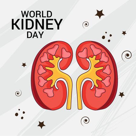 World Kidney Day wtih kidney.