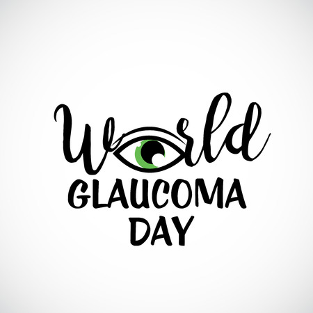World Glaucoma Day banner on white background