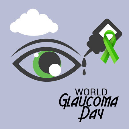 World Glaucoma Day banner in purple color background
