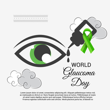 World Glaucoma Day banner in gray color background
