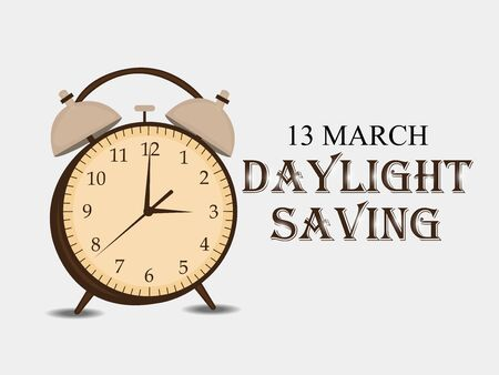 Daylight Saving on 13 March.