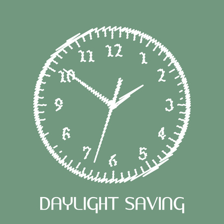 Daylight Saving illustration. Ilustrace