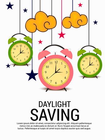 Daylight Saving illustration. Ilustrace
