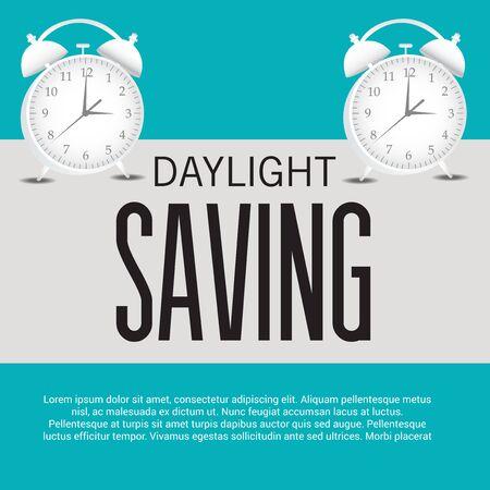 Daylight Saving creative concept design 일러스트
