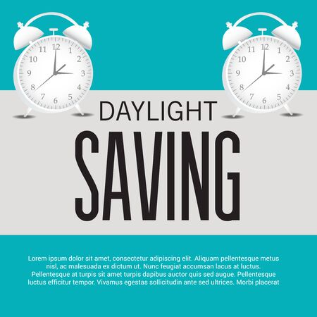 Daylight Saving creative concept design Illustration
