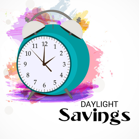 Daylight Saving creative concept design 向量圖像