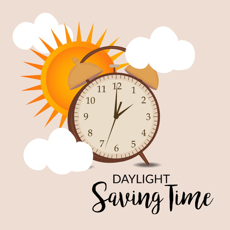 Daylight Saving creative concept design Vectores